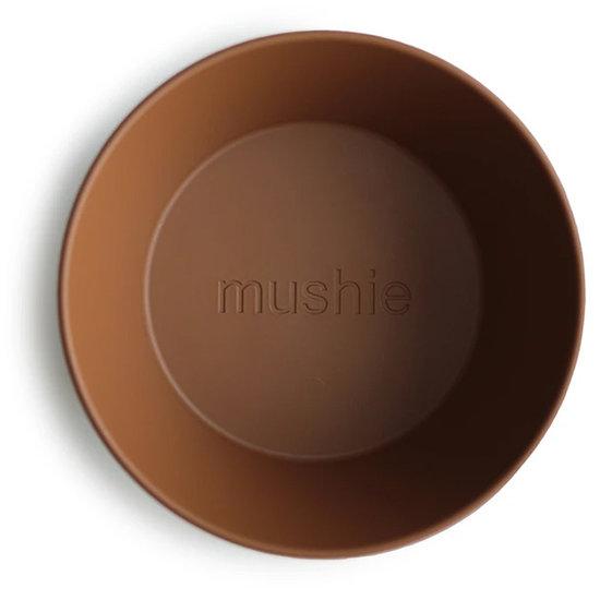 Mushie Mushie ronde kommen set van 2 - Caramel