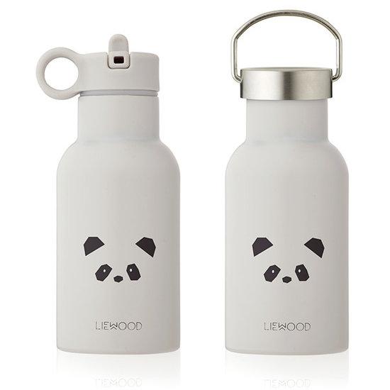 Liewood Liewood Thermo waterfles - rvs drinkfles 375ml - Panda lichtgrijs
