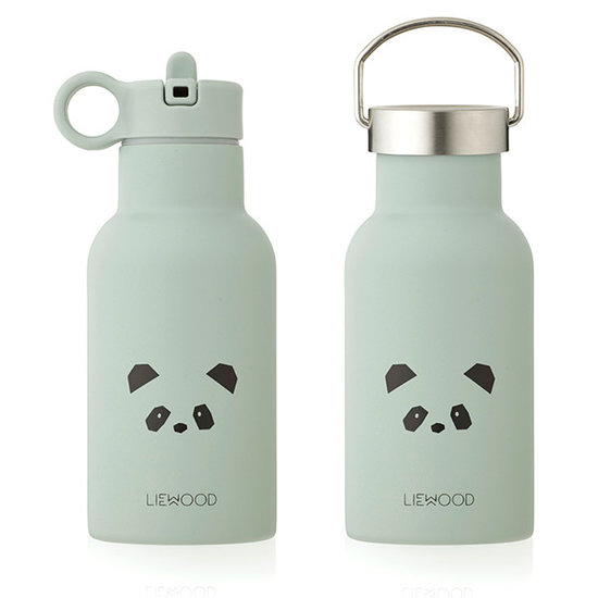 Liewood Water bottle - drinking bottle - Anker - Panda dusty mint - Liewood