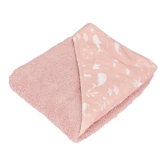 Little Dutch Little Dutch badcape - Ocean Pink