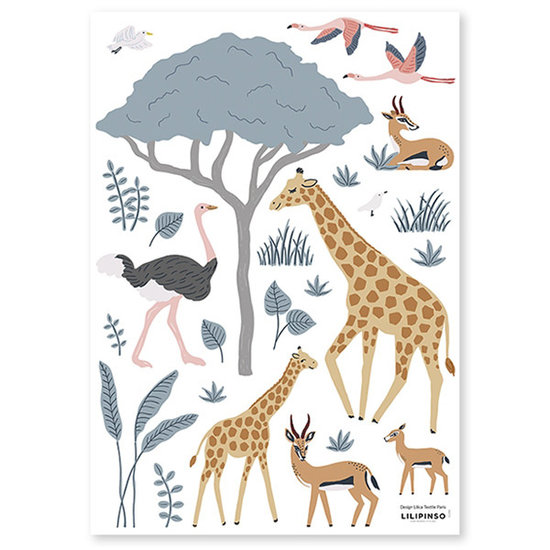 Lilipinso Lilipinso wall stickers Tanzania Giraffe & Cie