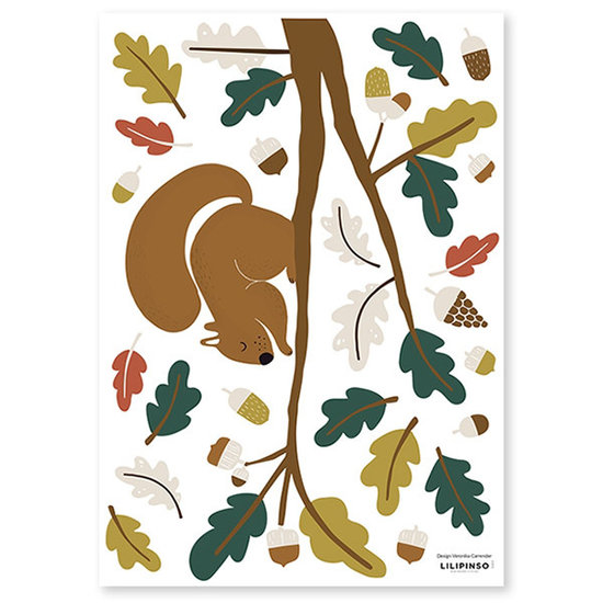 Lilipinso Lilipinso muurstickers Forest Squirrel