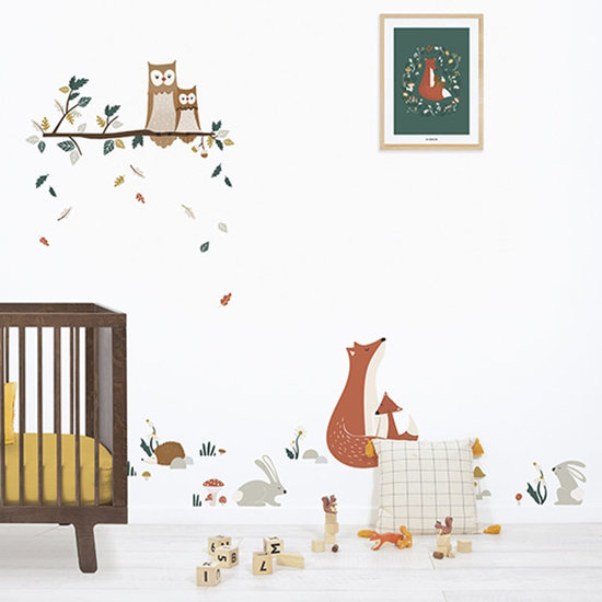 Lilipinso Lilipinso muurstickers Forest Owl Family