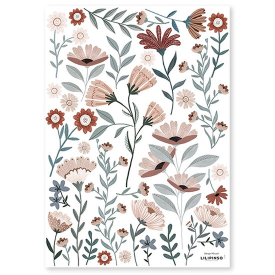 Lilipinso Lilipinso muurstickers Ocean Flowers