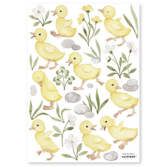 Lilipinso Lilipinso muurstickers Lucky Ducky 9 Baby Ducks
