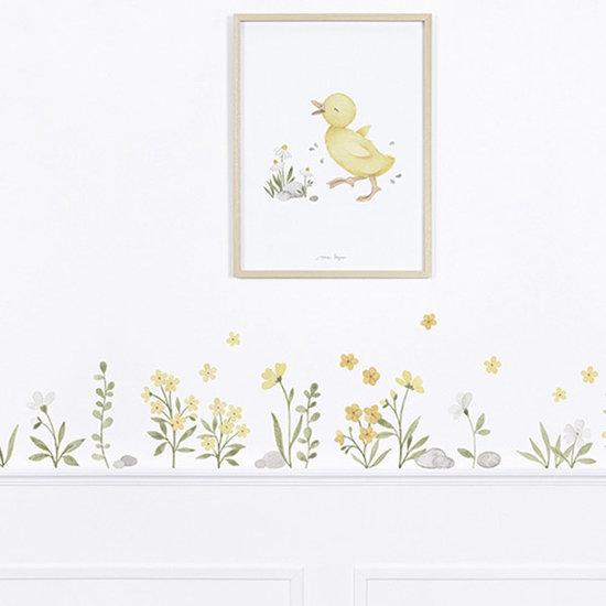 Lilipinso Lilipinso muurstickers Lucky Ducky Flowers