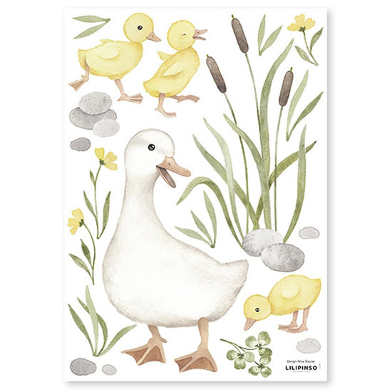 Lilipinso Lilipinso wall stickers Lucky Ducky Ducks Mom