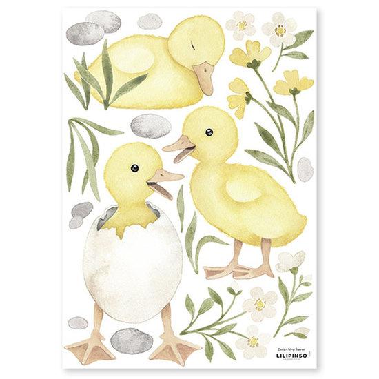 Lilipinso Lilipinso muurstickers Lucky Ducky 3 Ducklings