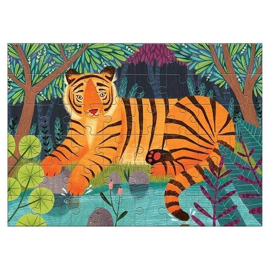 Mudpuppy Mudpuppy mini puzzel Bengaalse tijger 48st