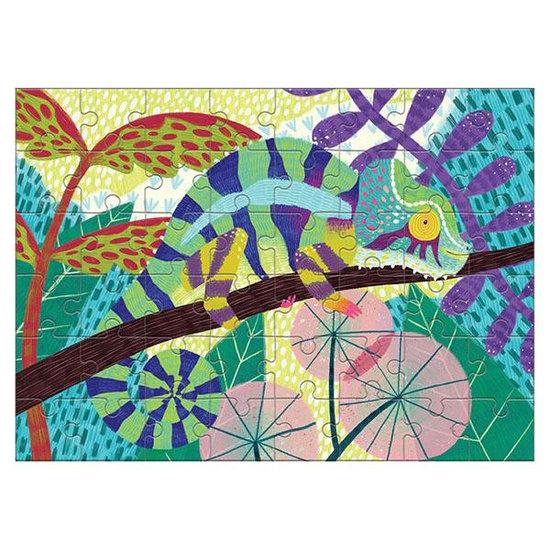 Mudpuppy Mudpuppy mini puzzle Chameleon 48pieces