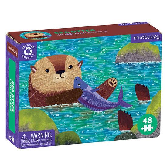 Mudpuppy Mudpuppy mini puzzel Zeeotter 48st