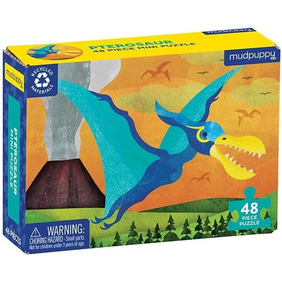 Mudpuppy Mudpuppy mini puzzel Pterosaur 48st