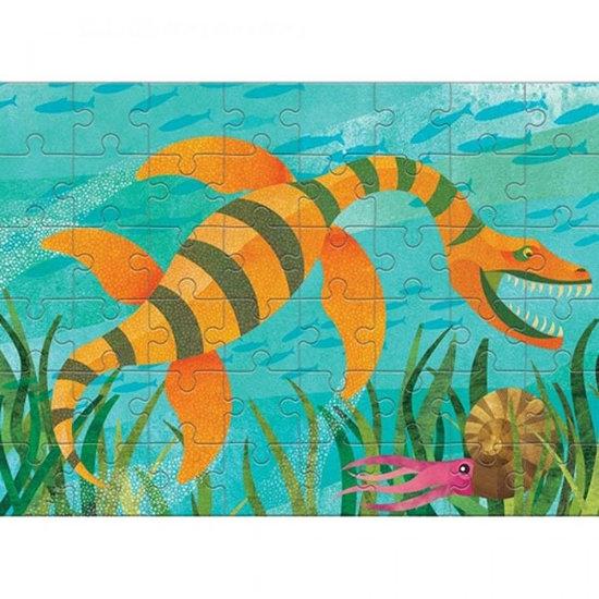 Mudpuppy Mudpuppy mini puzzel Rhomaleosaurus 48st