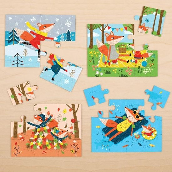 Mudpuppy Mudpuppy 4 puzzels Vier seizoenen 4-6-9-12st