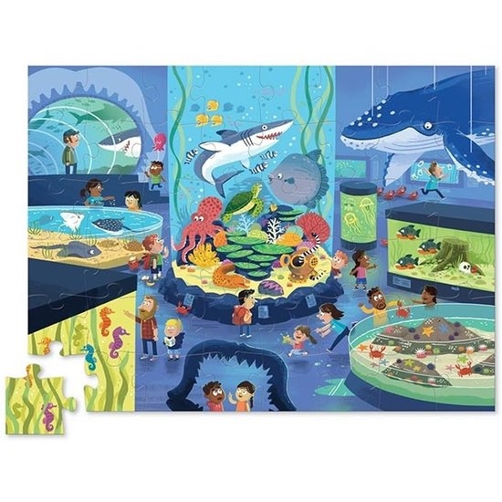 Crocodile Creek Crocodile Creek puzzel Dag in het aqua museum 48st
