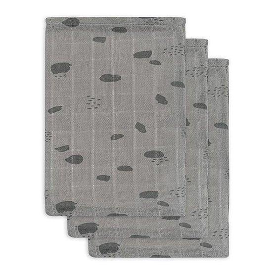 Jollein Jollein hydrofiel washandje Spot Storm grey 3pack