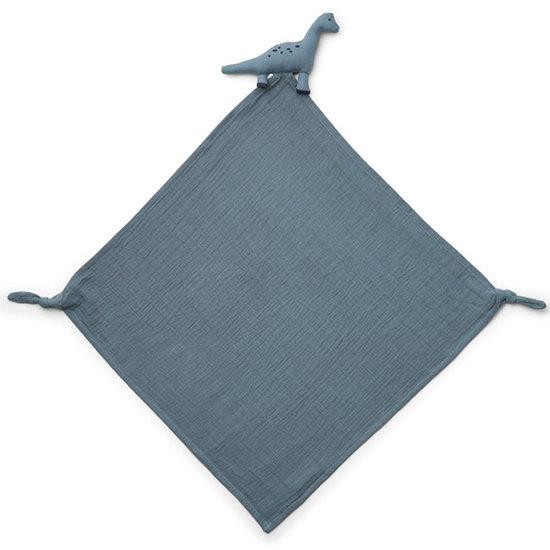 Liewood Knuffeldoekje Robbie Dino blue wave - Liewood
