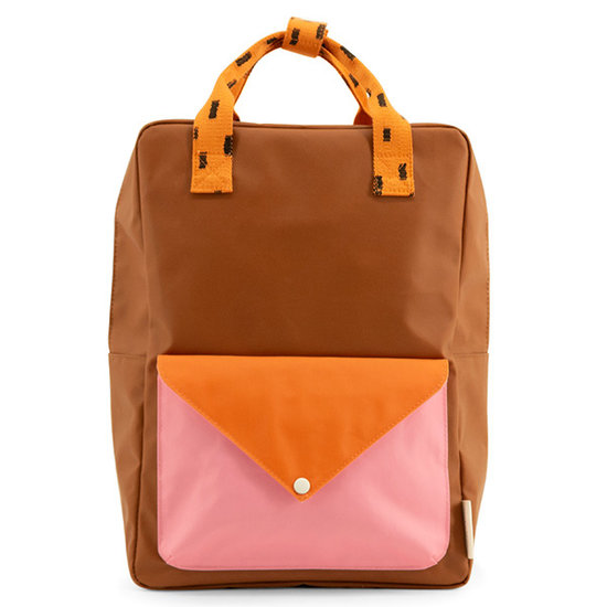 Sticky Lemon Sticky Lemon backpack Large Envelope brown - pink
