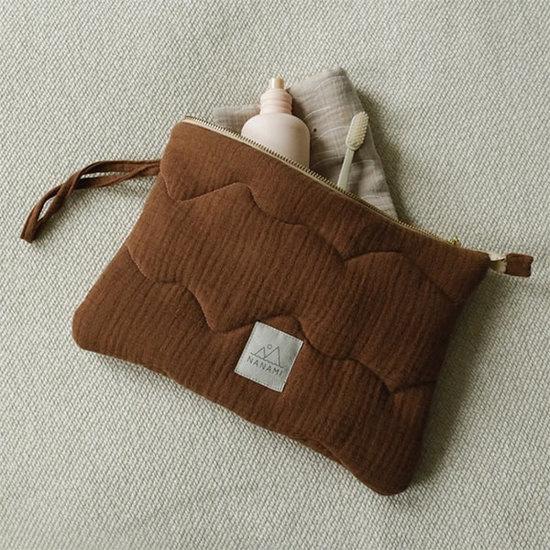 Nanami Nanami clutch - etui brown