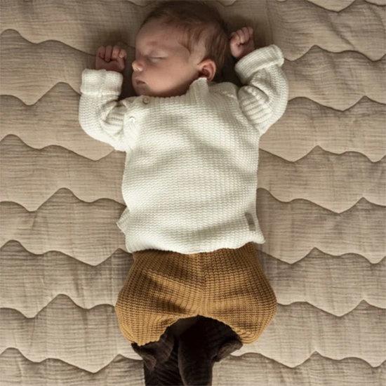 Nanami Nanami baby top knit rib sand