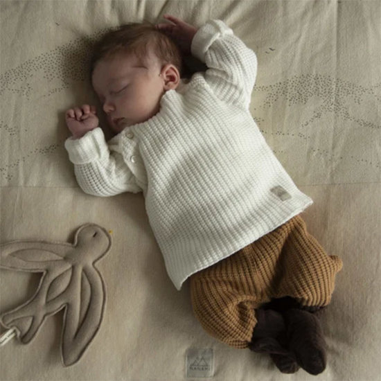 Nanami Nanami baby trui knit rib sand