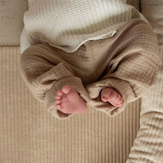 Nanami Nanami baby pants muslin sand