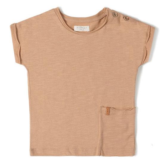 Nixnut Nixnut t-shirt korte mouw nude
