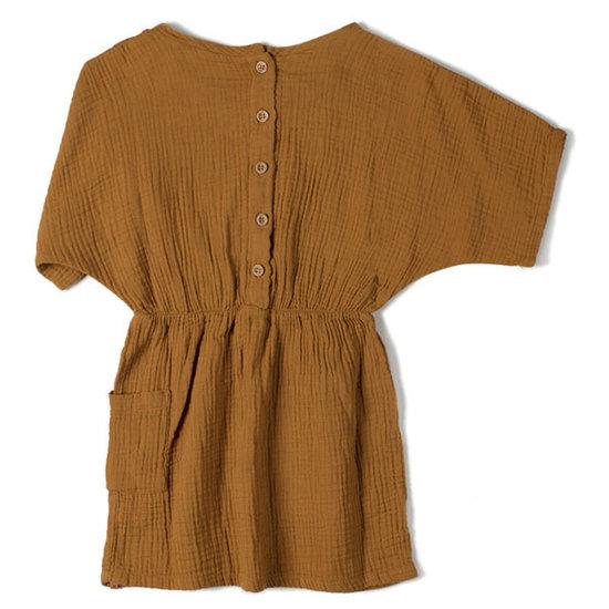 Nixnut Nixnut Flow jurk caramel