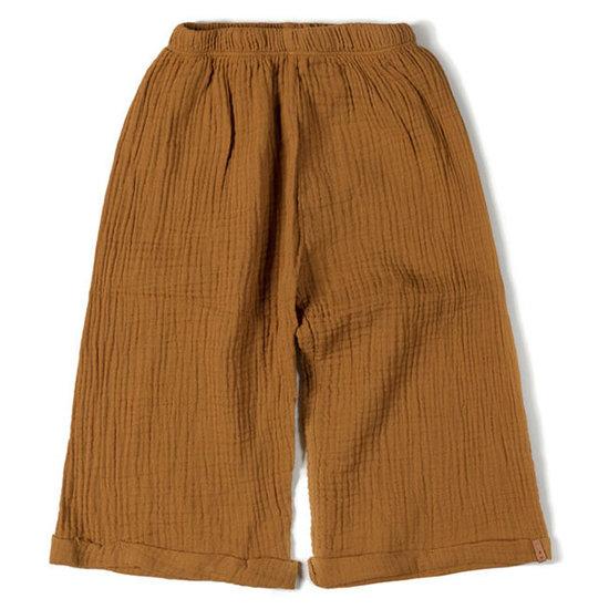 Nixnut Nixnut brede broek caramel