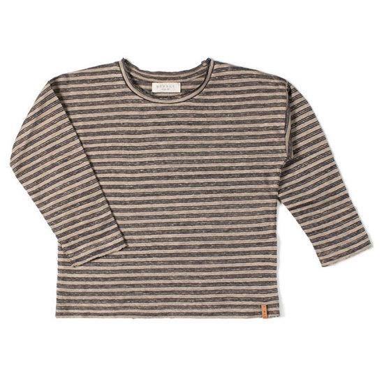 Nixnut Nixnut t-shirt lange mouwen biscuit night stripe