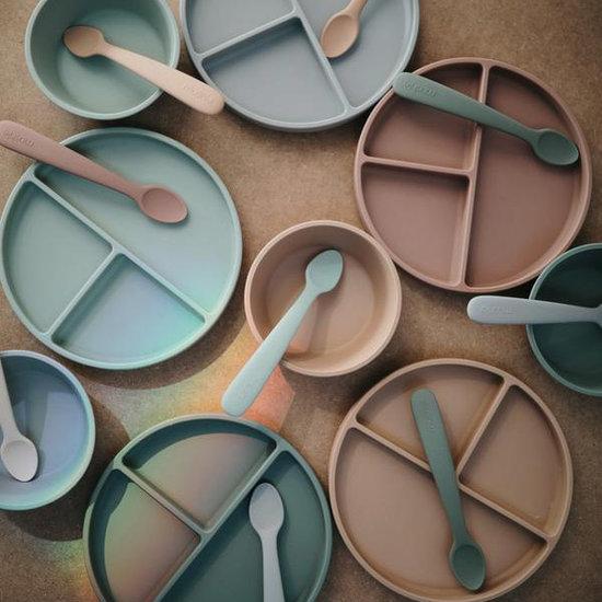 Mushie Mushie siliconen bord met zuignap Natural