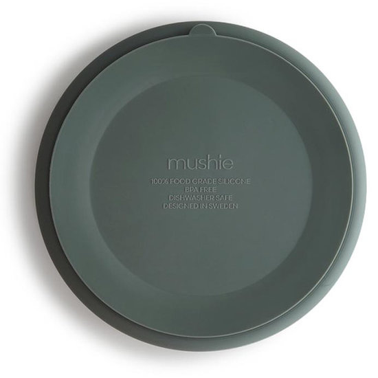 Mushie Mushie silicone suction plate Dried Thyme