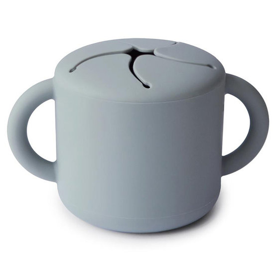 Mushie Mushie siliconen snack cup Stone