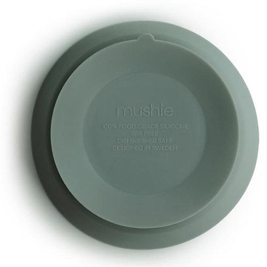 Mushie Mushie silicone suction bowl Cambridge blue