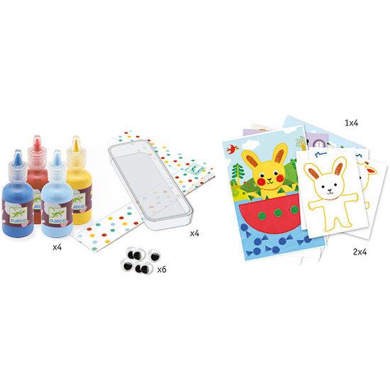 Djeco Djeco sponge painting - Cuddly toy adventures
