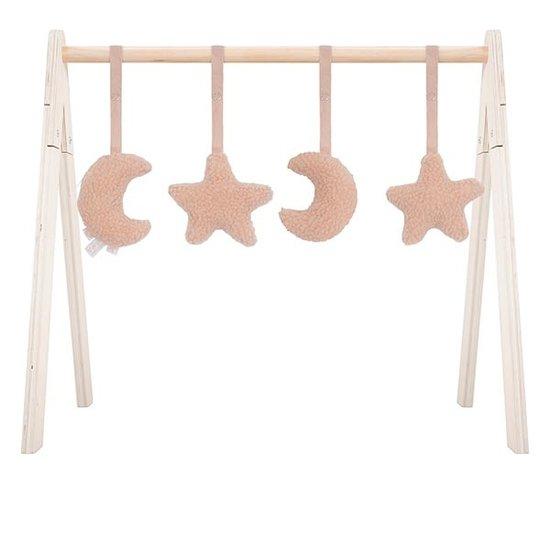 Jollein Jollein babygym speelgoed Moon pale pink