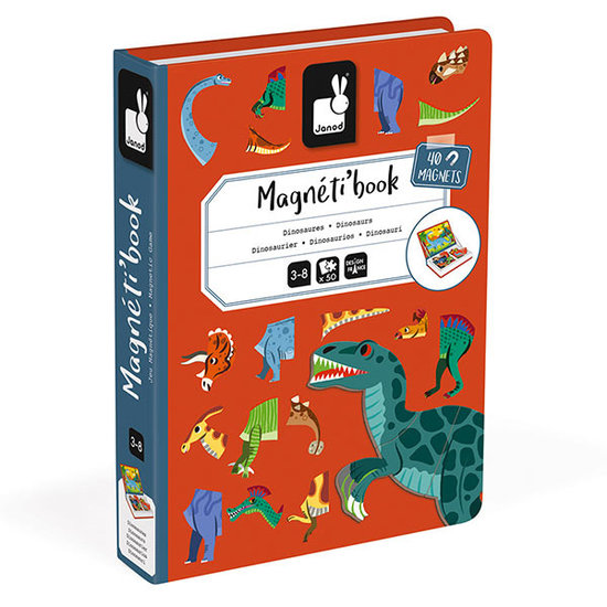Janod speelgoed Janod Magnetic Book Dinosaurs 50pcs 3-8yrs