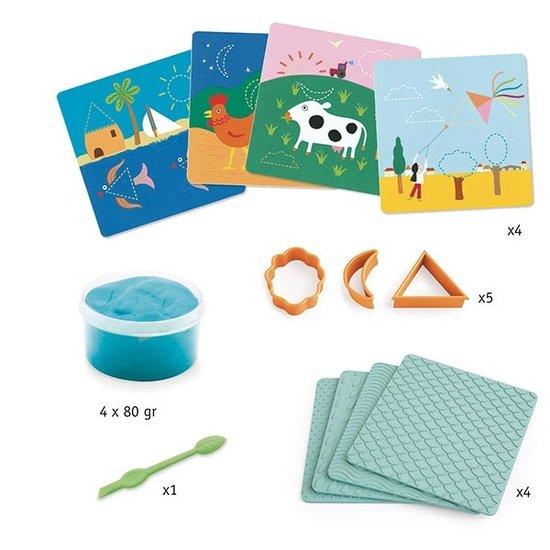 Djeco Djeco boetseerklei patronen en vormen 3-6 jr