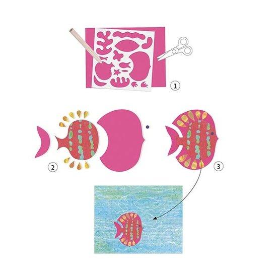 Djeco Djeco knutselpakket collages ontwerpen met papier