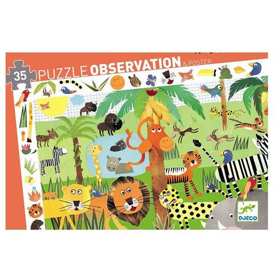 Djeco Djeco observatie puzzel Jungle +3jr 35st