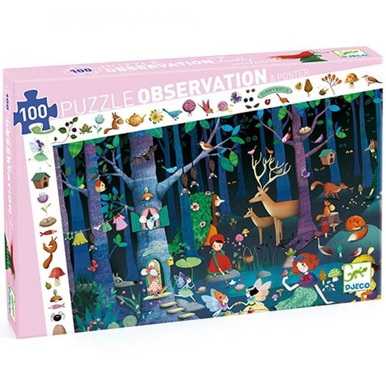 Djeco Djeco observation puzzle enchanted forest +5y 100p
