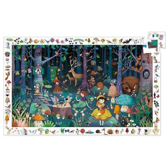 Djeco Djeco observatie puzzel betoverd bos +5jr 100st