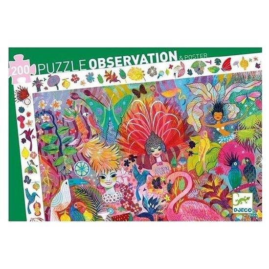 Djeco Djeco observatie puzzel Rio carnaval +6jr 200st