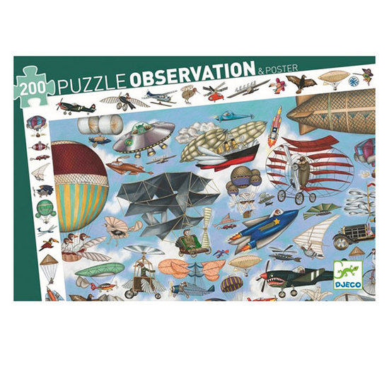 Djeco Djeco observatie puzzel Luchtvaart +6jr 200st