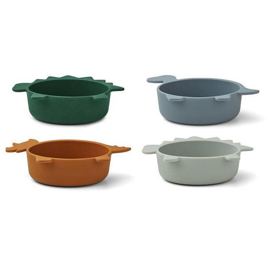 Liewood Liewood Iggy bowls - Dino blue multi mix