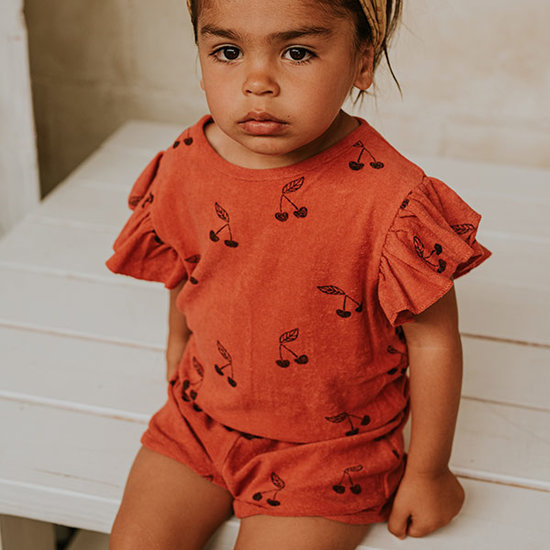 Sproet en Sprout Sproet & Sprout jumpsuit Print Cherry