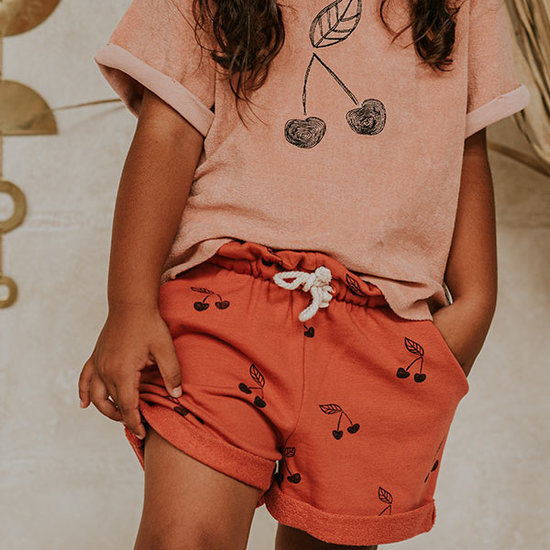 Sproet en Sprout Sproet & Sprout t-shirt short sleeve Terry Cherry