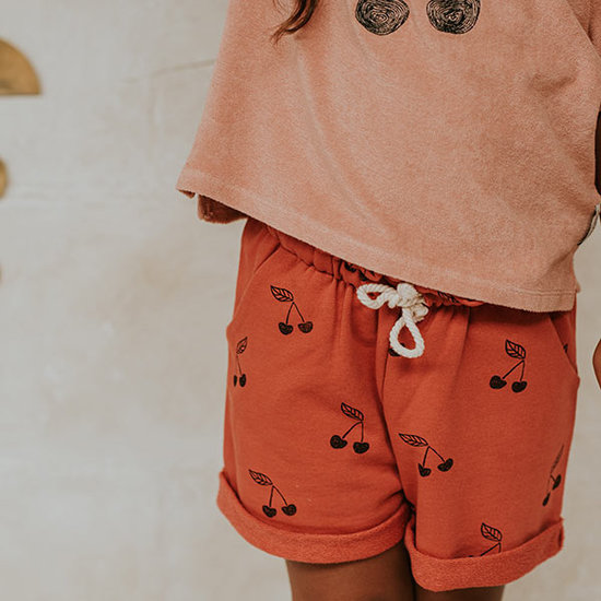 Sproet en Sprout Sproet & Sprout kids shorts Print Cherry