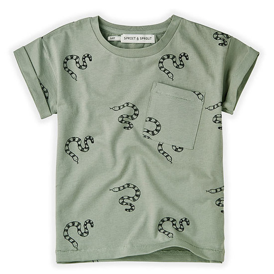 Sproet en Sprout Sproet & Sprout t-shirt short sleeve Print Snake
