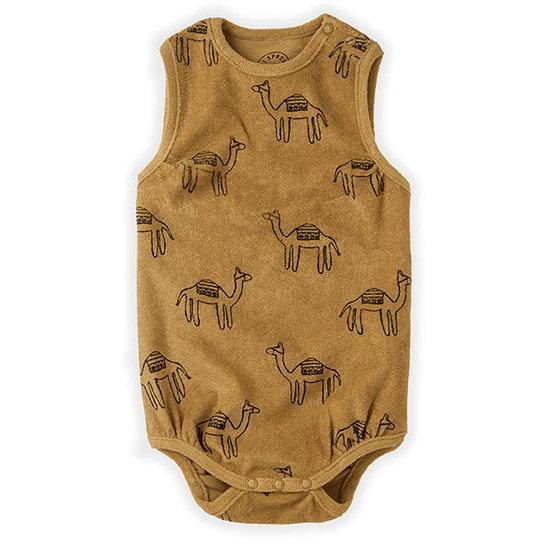 Sproet en Sprout Sproet en Sprout Loose rompertje Print Camel